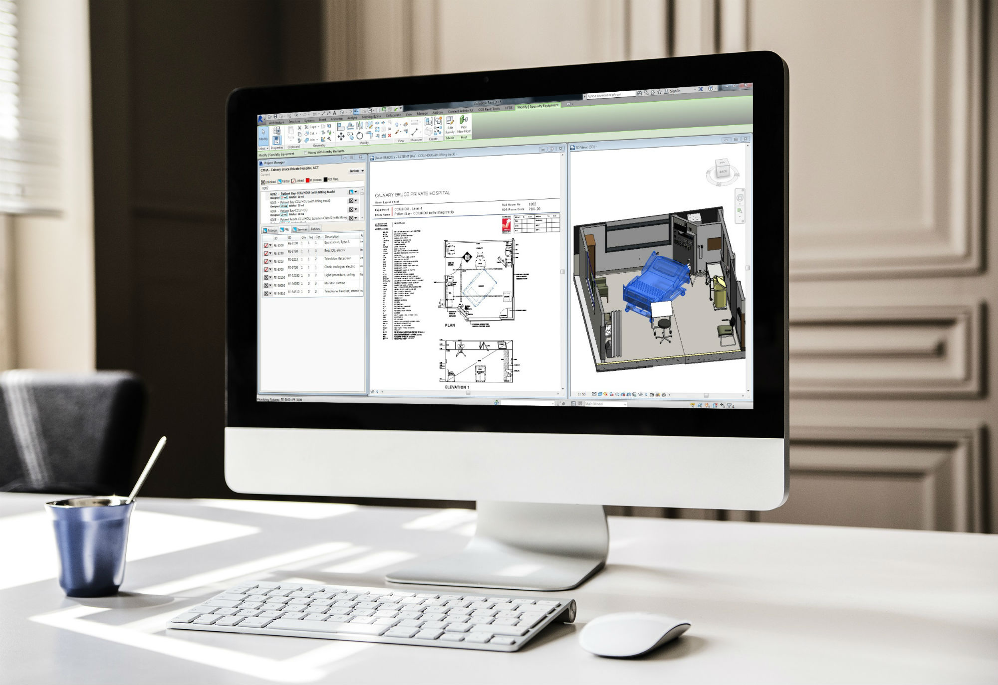 Synchronize project brief & BIM using HFBS for Revit