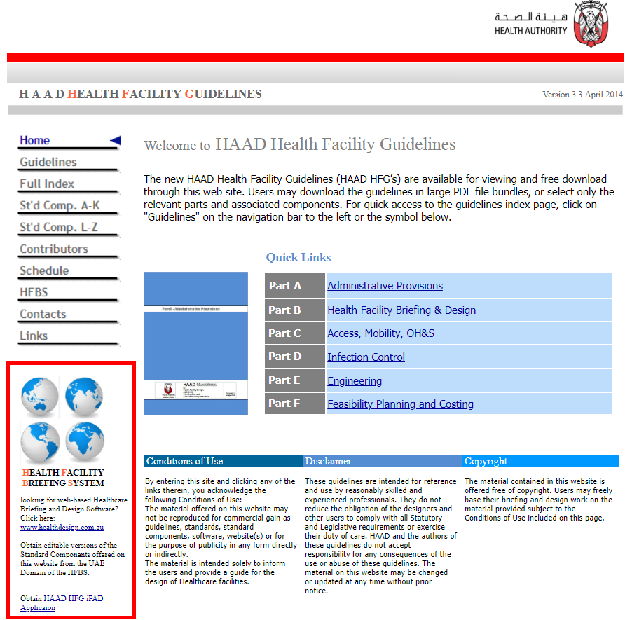 HFBS-Abu Dhabi Health Facility Guidelines